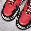 Кроссовки Balenciaga Triple S Red Black красные, фото 7