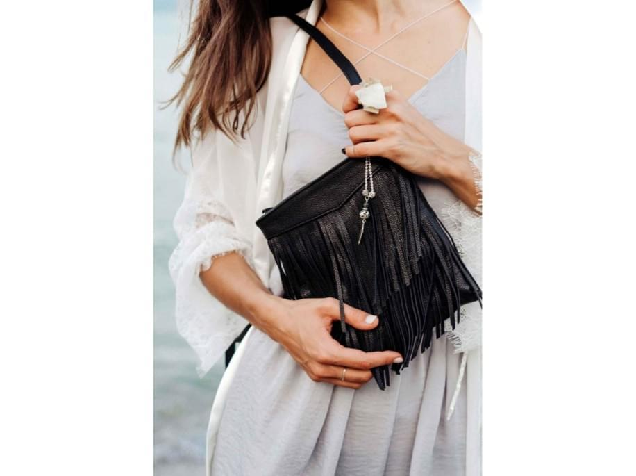 Женская кожаная сумка-кроссбоди Blanknote BN-BAG-16-onyx