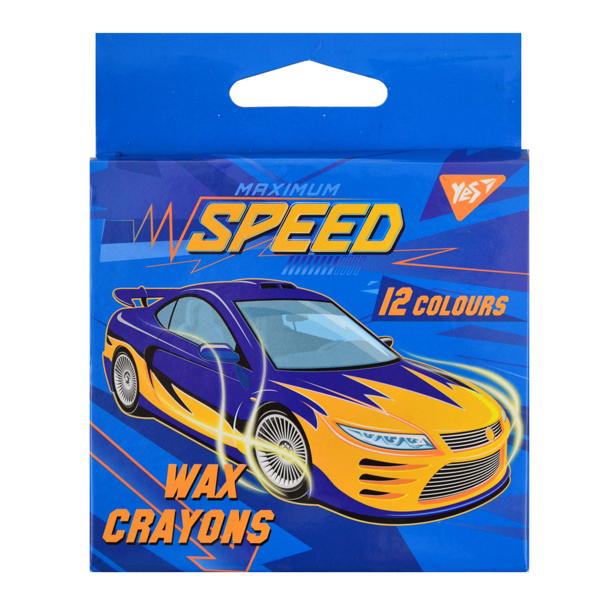 "Восковые карандаши YES 12шт. ""Speed Car"", 7*90мм"