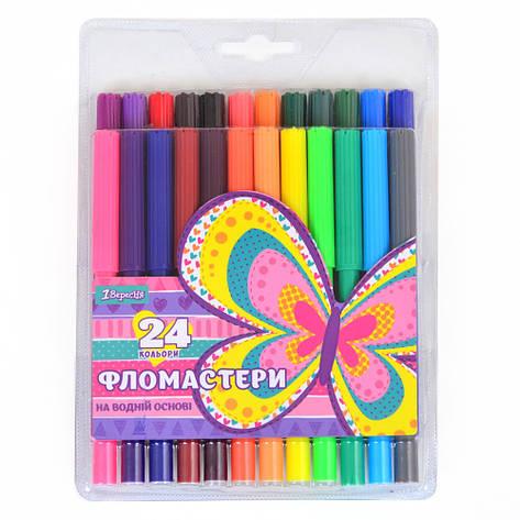 """Фломастеры 24 цв. """"Bright butterfly""""                                                      , фото 2"""