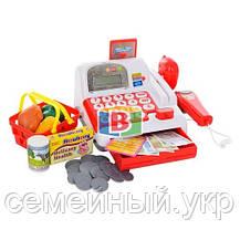 Детский супермаркет. Игровой набор касса,тележка,корзина,сканер., фото 3