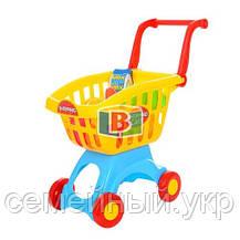 Детский супермаркет. Игровой набор касса,тележка,корзина,сканер., фото 2