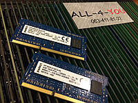 Оперативна пам`ять Kingston DDR3 4GB SO-DIMM   1.35V 1Rx8 PC3 12800S 1600mHz