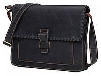 Черный кожаный мужской мессенджер Tiding Bag GW2080DB, фото 1