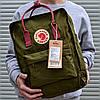 Рюкзак городской качественный Fjallraven Kanken classic, цвет хаки (олива)