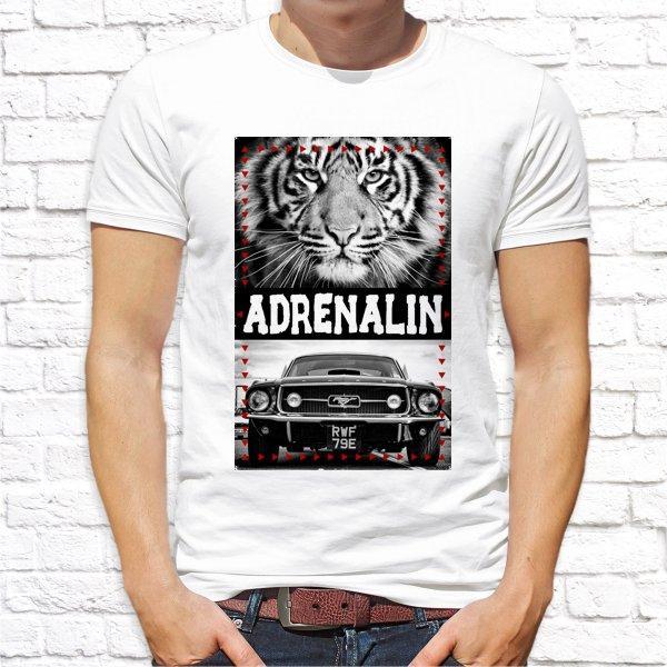 """Мужская футболка с принтом, Swag """"Adrenalin"""" Push IT"""