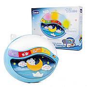 Детский музыкальный ночник / проектор 999-108 G звук,свет - голубой