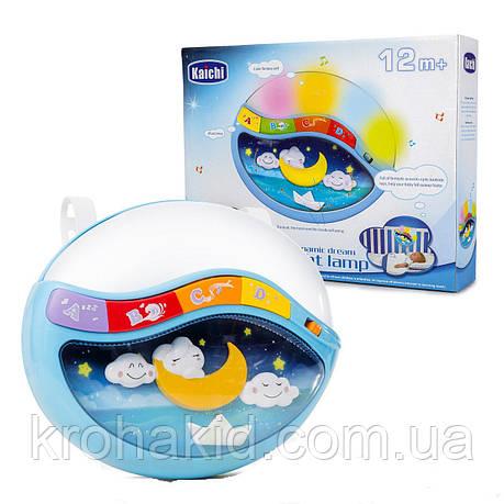 Дитячий музичний нічник / проектор 999-108 G звук,світло - блакитний, фото 2