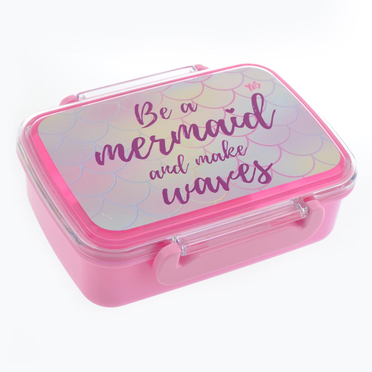 """Контейнер для еды """"Mermaid"""", 420 мл, с разделителем"""