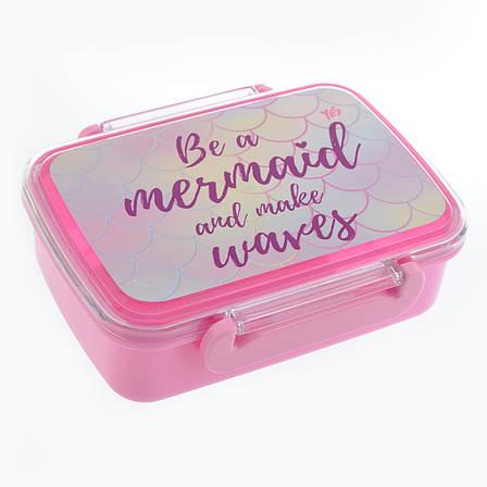 """Контейнер для еды """"Mermaid"""", 420 мл, с разделителем                                       , фото 2"""