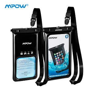 Чехол водонепроницаемый Mpow Floating v2 Waterproof Case для мобильных телефонов или документов (Черный)