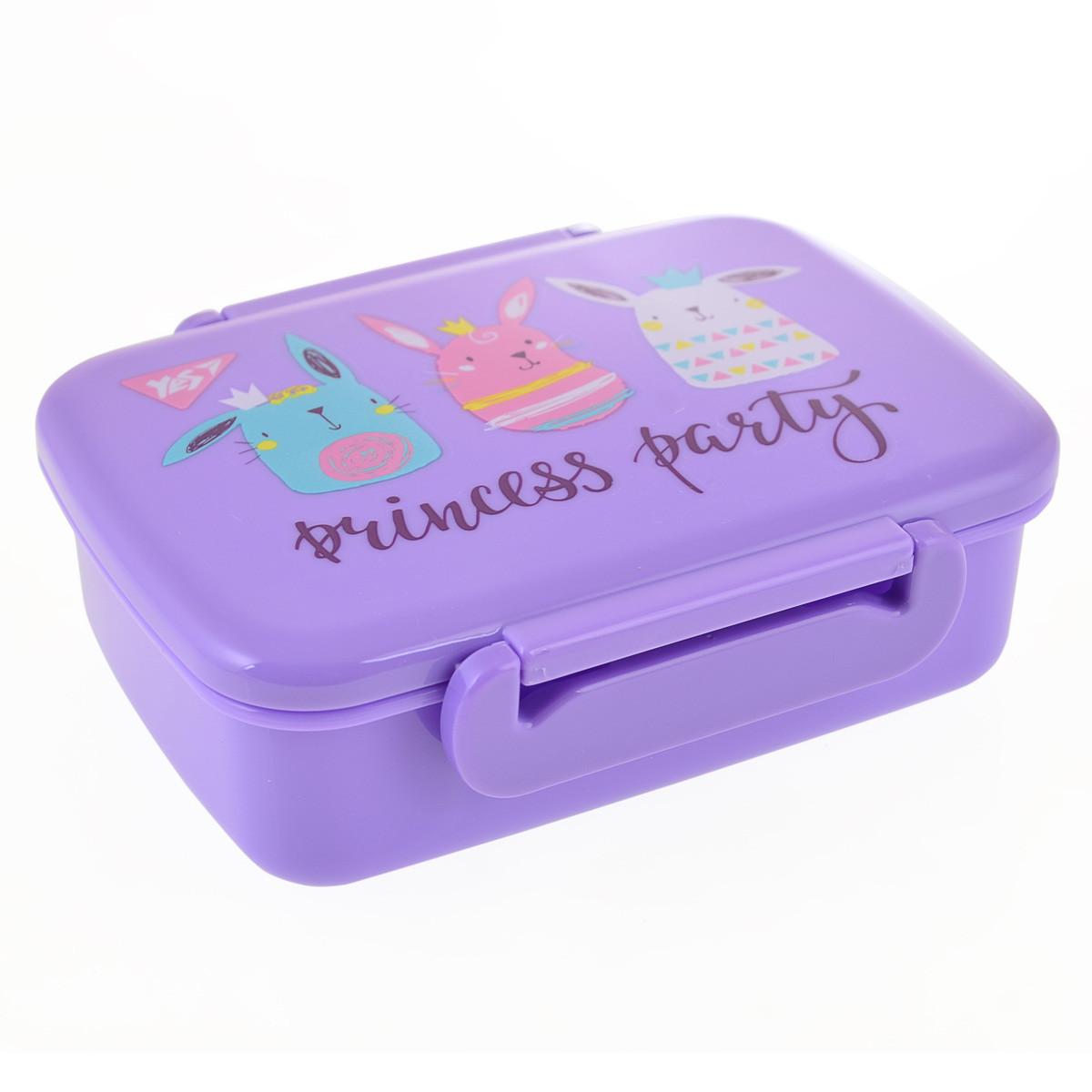 """Контейнер для еды """"Princess Party"""", 420 мл, с разделителем"""