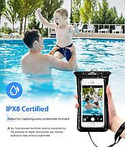 Чехол водонепроницаемый Mpow Floating v2 Waterproof Case для мобильных телефонов или документов (Черный), фото 3