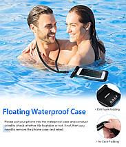 Чехол водонепроницаемый Mpow Floating v2 Waterproof Case для мобильных телефонов или документов (Черный), фото 2
