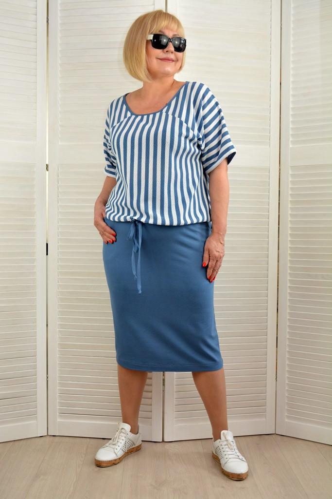 Комплект: Блузон и юбка  - Модель 1792к - 56 размер