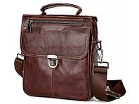 Коричневый кожаный мужской мессенджер TIDING BAG A25-5567B, фото 1