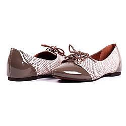 Комфортные туфли-оксфорды с качественной лакированной кожи