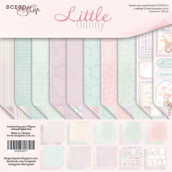 """Набор двусторонней бумаги 20х20см от Scrapmir """"Little Bunny"""""""