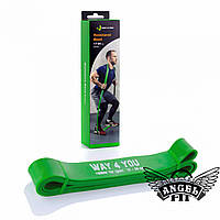 Резинова петля Way4You 17 - 54 кг Зелена