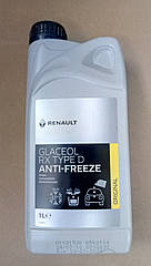 Антифриз концентрат Renault Kangoo 2 (зеленый) 1л Renault Glaceol RX Type D (оригинал)