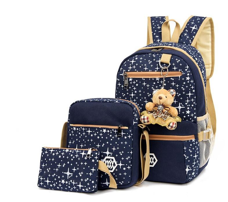Женский детский школьный рюкзак портфель ранец 3 в 1