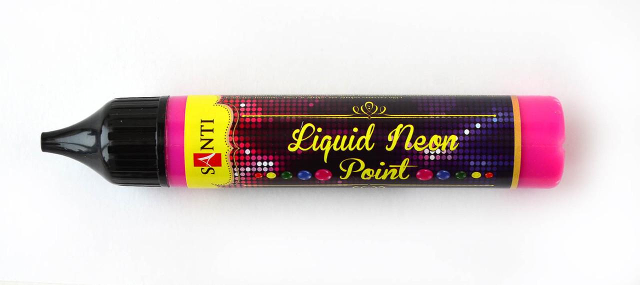 """ЗD-гель """"Liquid neon gel"""", розовый"""