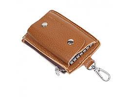 Коричневая кожаная женская ключница Tiding bag K51B