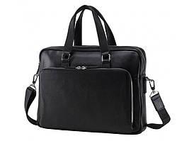 Черная кожаная мужская сумка Tiding Bag NM17-33960A