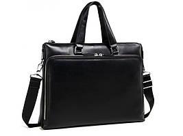 Черная кожаная мужская сумка Tiding Bag M664-4A