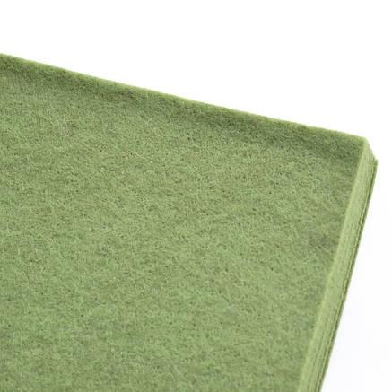 Набор Фетр мягкий, оливковый, 21*30см (10л)                                               , фото 2