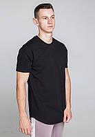 Футболка мужская черная удлиненная бренд ТУР  модель Фриман (Freeman) размер XS, S, M, L, XL