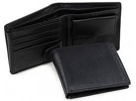 Черное кожаное мужское портмоне Tiding Bag A7-261A