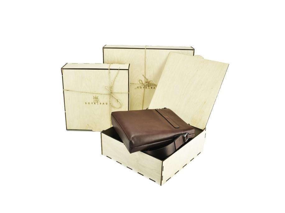Коробка деревянная бежевая подарочная B1