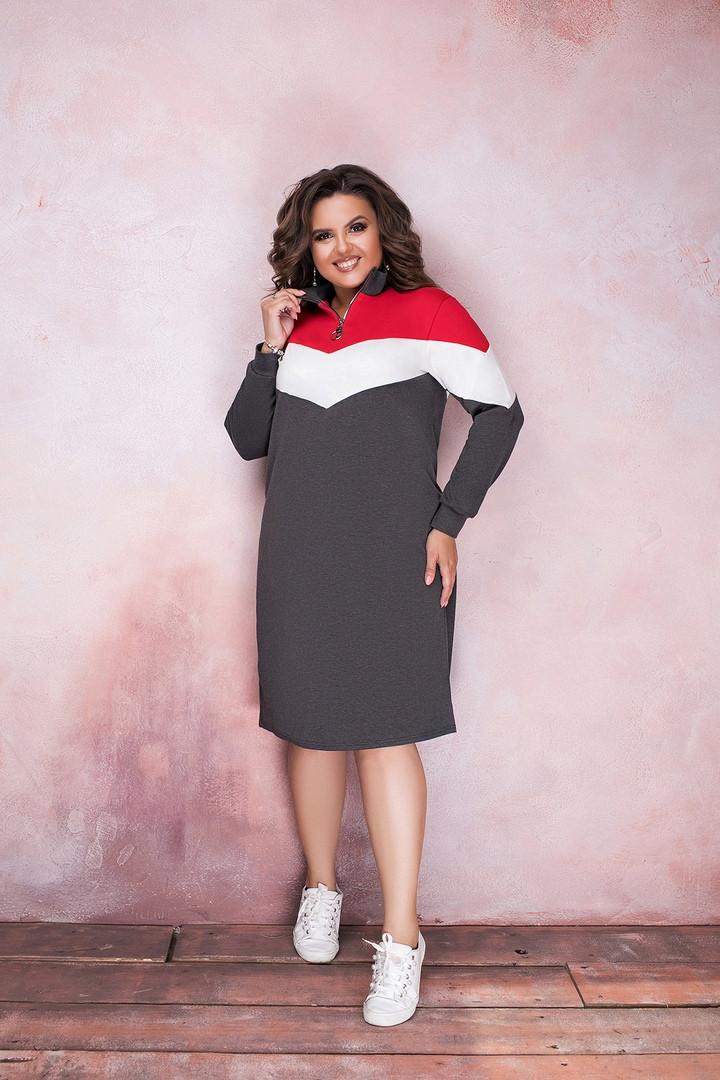 Платье-туника большие размеры