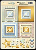 Рамочки Little Bear из чипборда с фольгуированием (золото) от Scrapmir