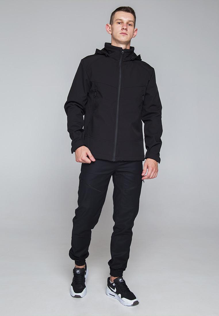 Демисезонная куртка мужская черная от бренда ТУР модель Центурион (Cеnturion) - фото 2