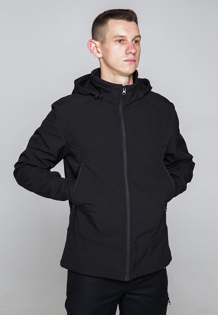 Демисезонная куртка мужская черная от бренда ТУР модель Центурион (Cеnturion) - фото 1