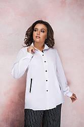 Біла сорочка великі розміри