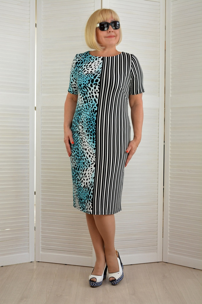 Платье футляр  - Модель Л411-5 - 50 размер