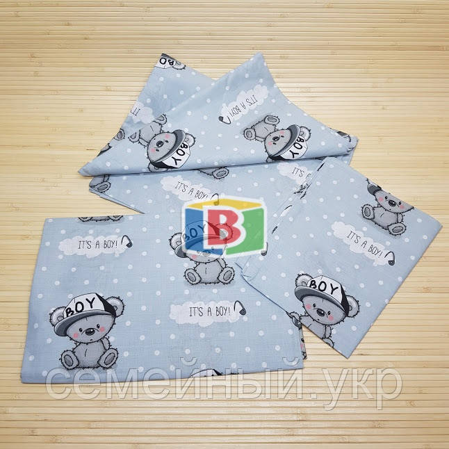 Детское сменное постельное белье в кроватку 3в1