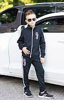 """Спортивный костюм """"Juventus"""" детский двойка для мальчика подростка, черный спортивная форма для школы"""