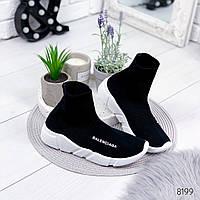 Кроссовки женские высокие черные , женская обувь