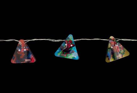 """Электрогирлянда Yes! Fun светодиодная """"Человек-паук"""" 18 ламп., 2,7м., прозр.пров,8 реж.миг, фото 2"""