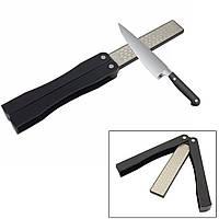 Точилка для ножів складна алмазна двустороння 400/600 (точилка для ножей алмазная двусторонняя)