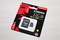 Карта памяти Kingston Canvas Selecct MicroSDHC 32Gb class 10 UHS-1 U3 (R-100Mb\s W-80Mb\s) c адаптером SD
