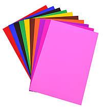 Наб.№19 цв.картона двусторон. одноцветного А4(10л), в ящ. мiх: 2 диз.                     , фото 2
