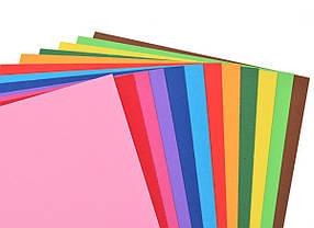 Наб.№ 58 цв.картона тонированного в массе А4(12л), в ящ. мiх: дизайна                     , фото 2