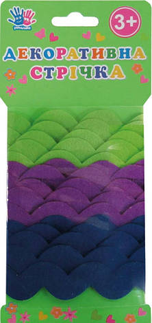 Ленточка декоративная волна, войлок, 2,74м, 3шт/уп                                        , фото 2