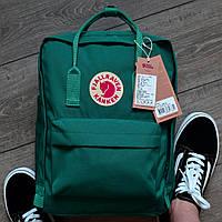 Рюкзак городской качественный Fjallraven Kanken classic, цвет зеленый