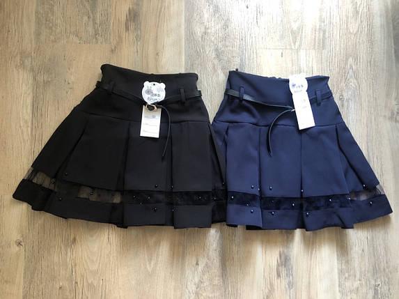 Школьная юбка в складку с поясом, фото 2